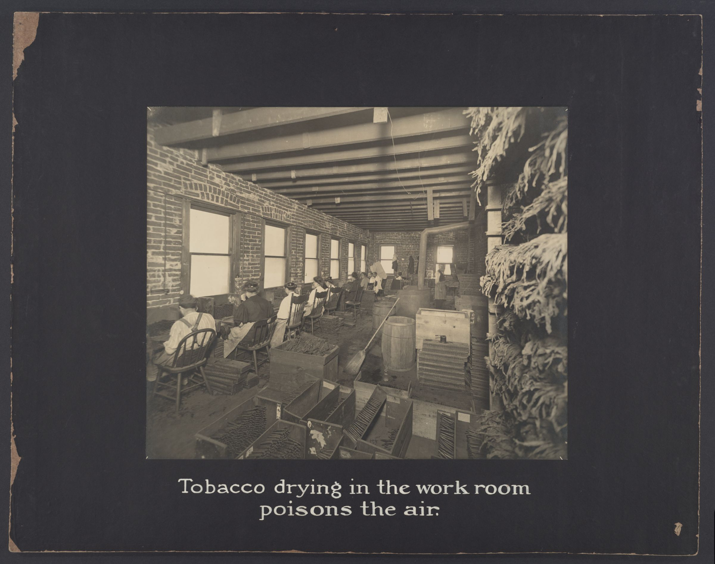 Industrial Problems, Conditions: United States. Pennsylvania. Pittsburgh. Pittsburgh Survey: Tobacco drying in the work room poisons in the air (1908)