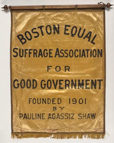 Banner for Boston Equal Suffrage Assocation for Good Government