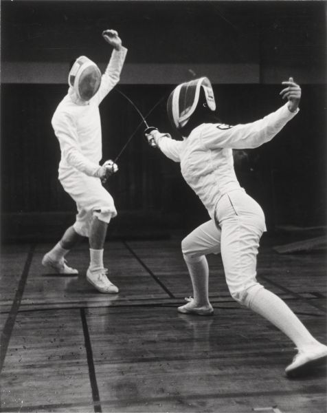 Fencing at Radcliffe College.