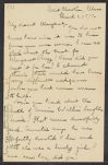 Letters from Cornelia James Cannon to her parents and siblings, March-June 1897