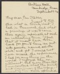 Letters from others to Eleanor Stabler Brooks, including Frances Brooks and sister Anna Bunker Stabler, 1912-1914
