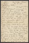 Letters from Cornelia James Cannon to her aunt, parents and siblings, January 1896-February 1897