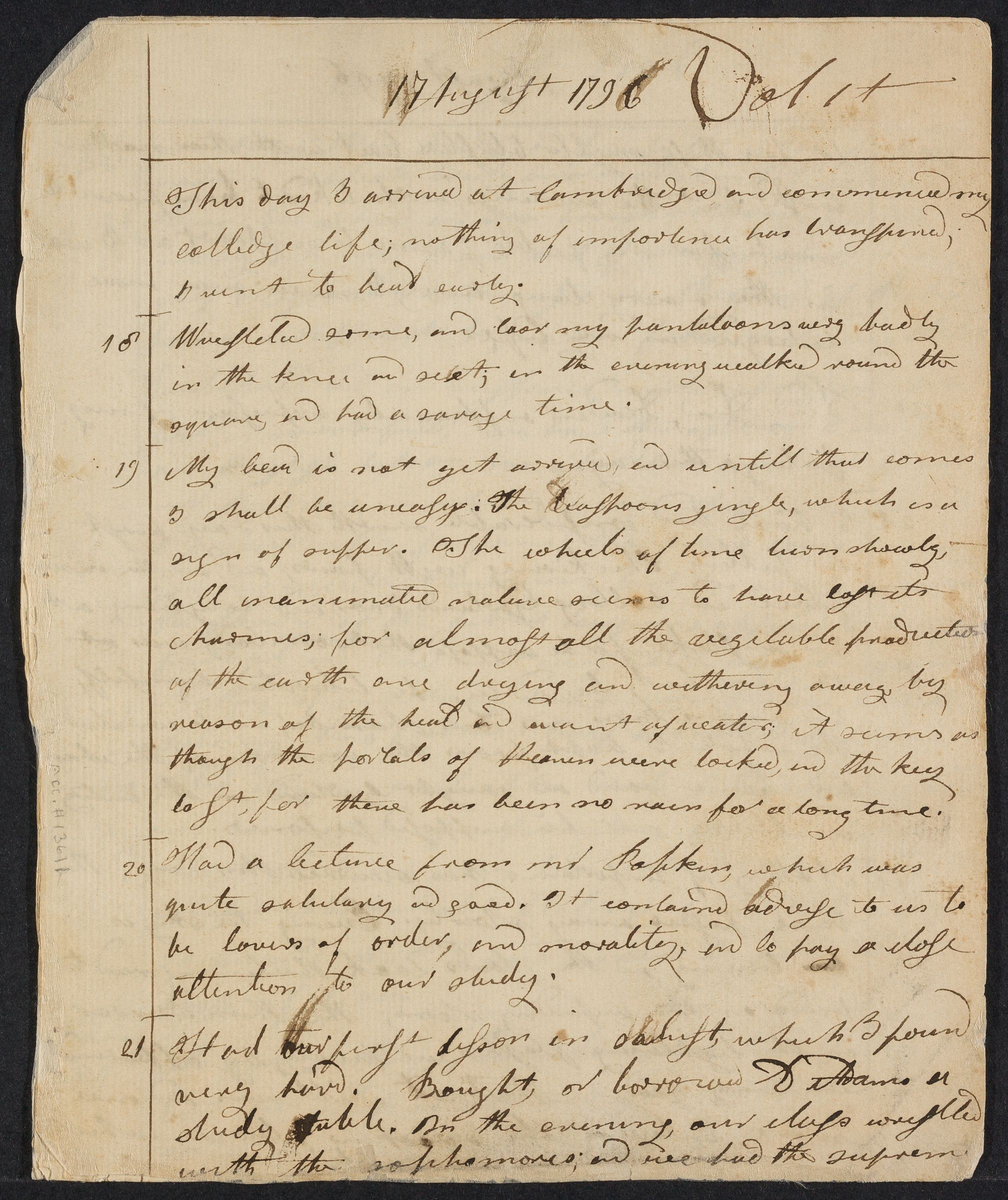 Diary of Elias Mann, 1796-1800