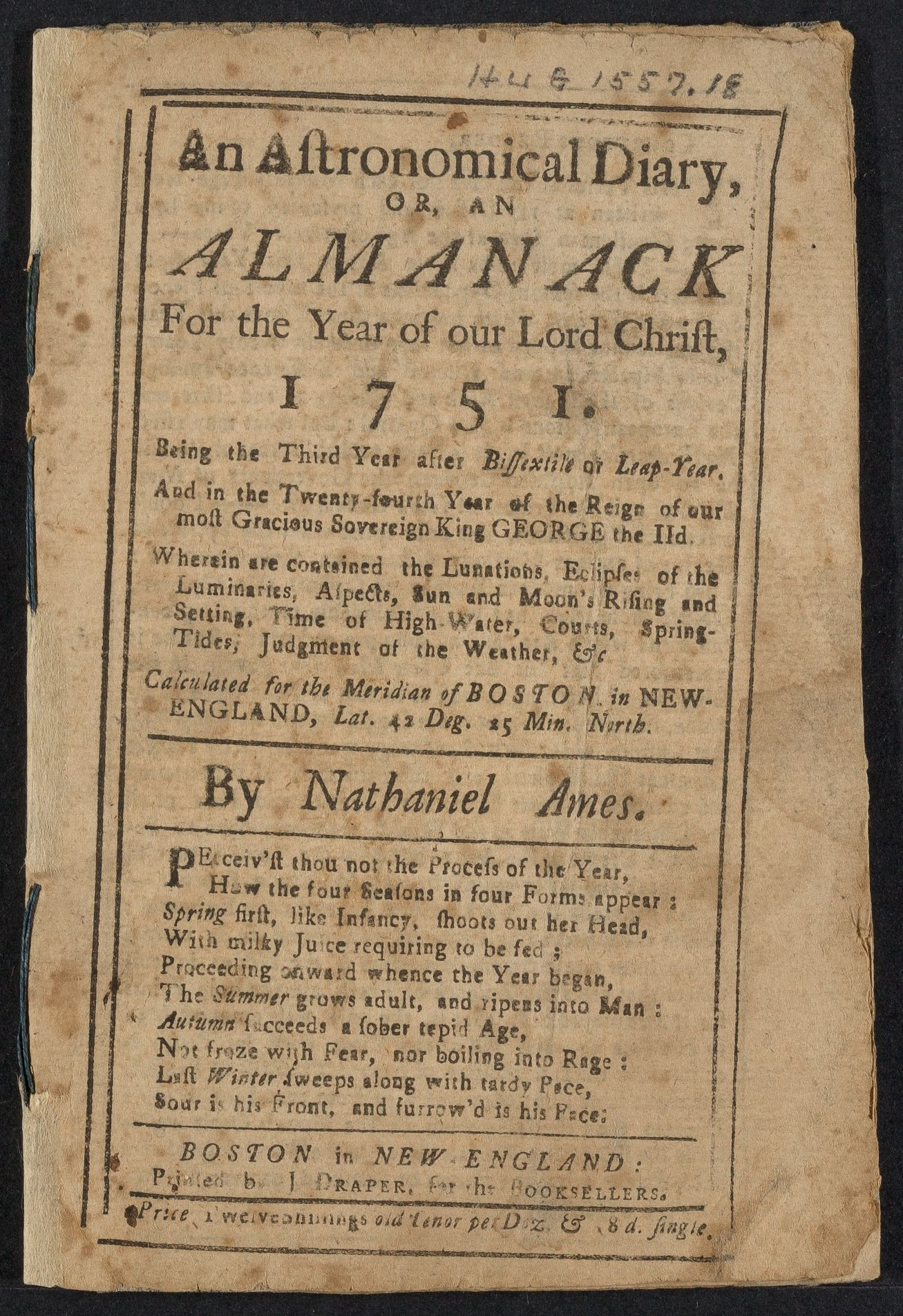 Diary of Thomas Marsh, 1751