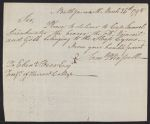 S. P. Russell's order for Sloop Cyrus Sails, 1798 March 26