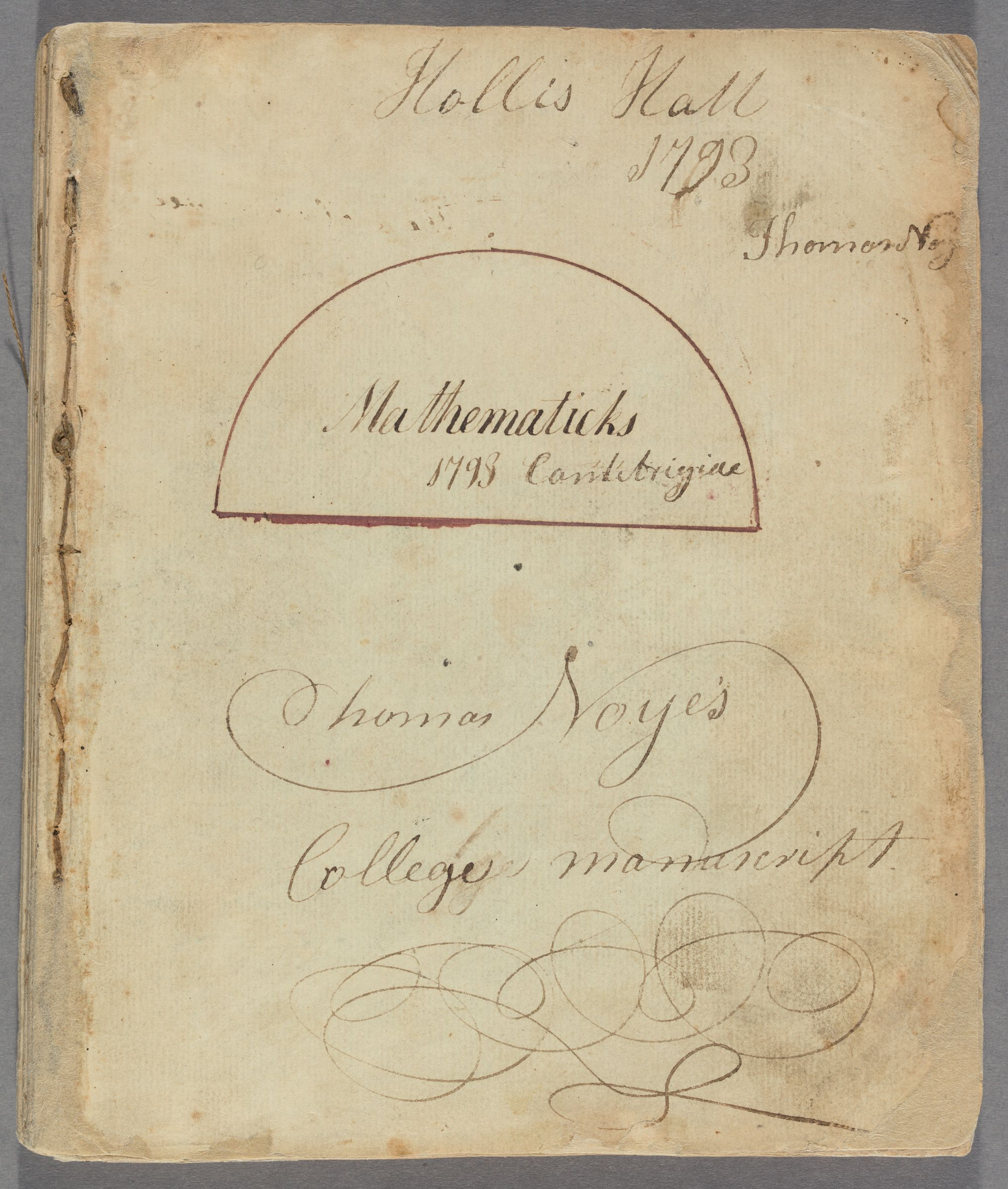 Student mathematical notebook of Thomas Noyes, 1793