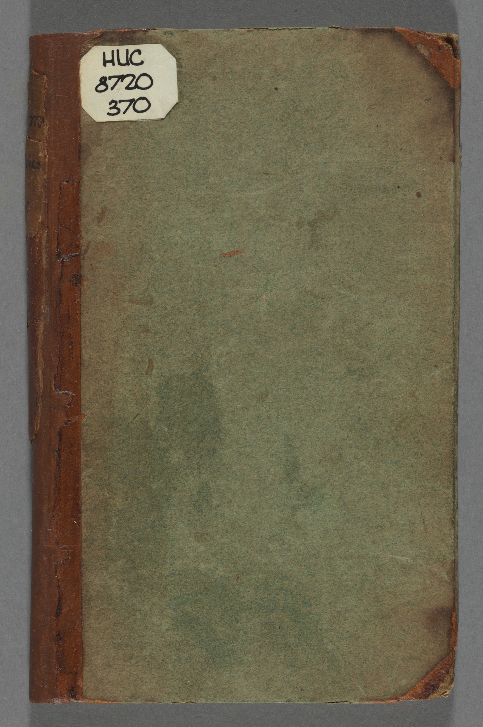 Student notebook of Ebenezer Parkman, 1720