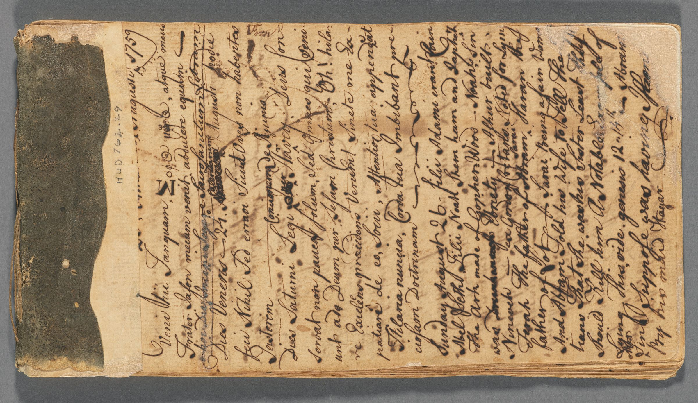 Diary and commonplace book of Peres Fobes, 1759-1760