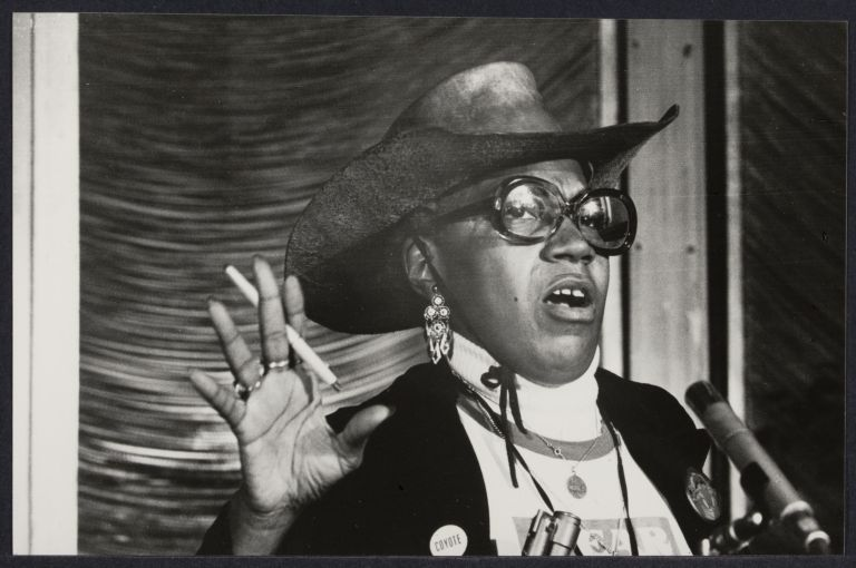 "Florynce Kennedy at ""Win with Women,"" 1984. Photographer: Bettye Lane."