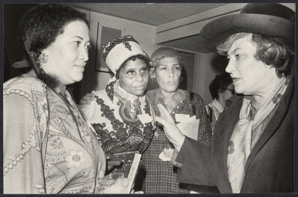 Bella Abzug with delegates at International Women's Year conference in Houston