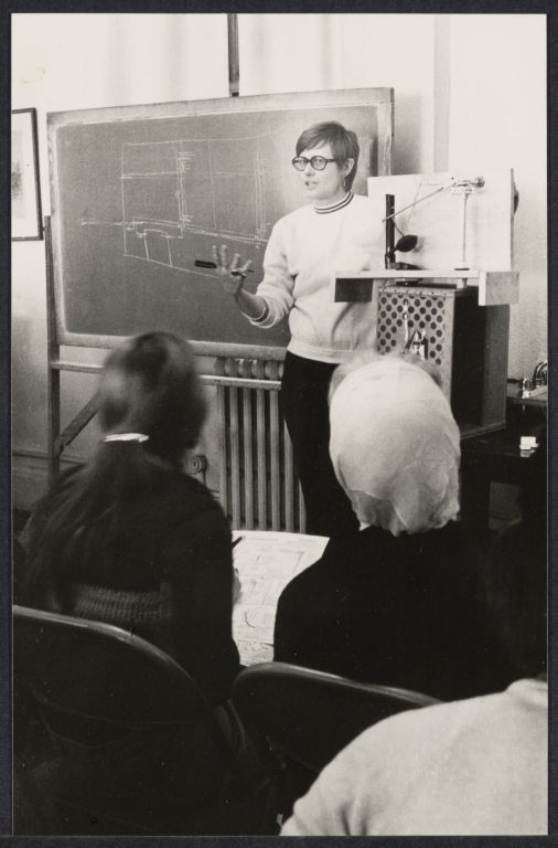 Plumbing and electrical class for women, 1971