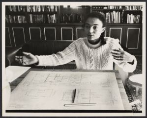 Photograph of a female architect by Bettye Lane