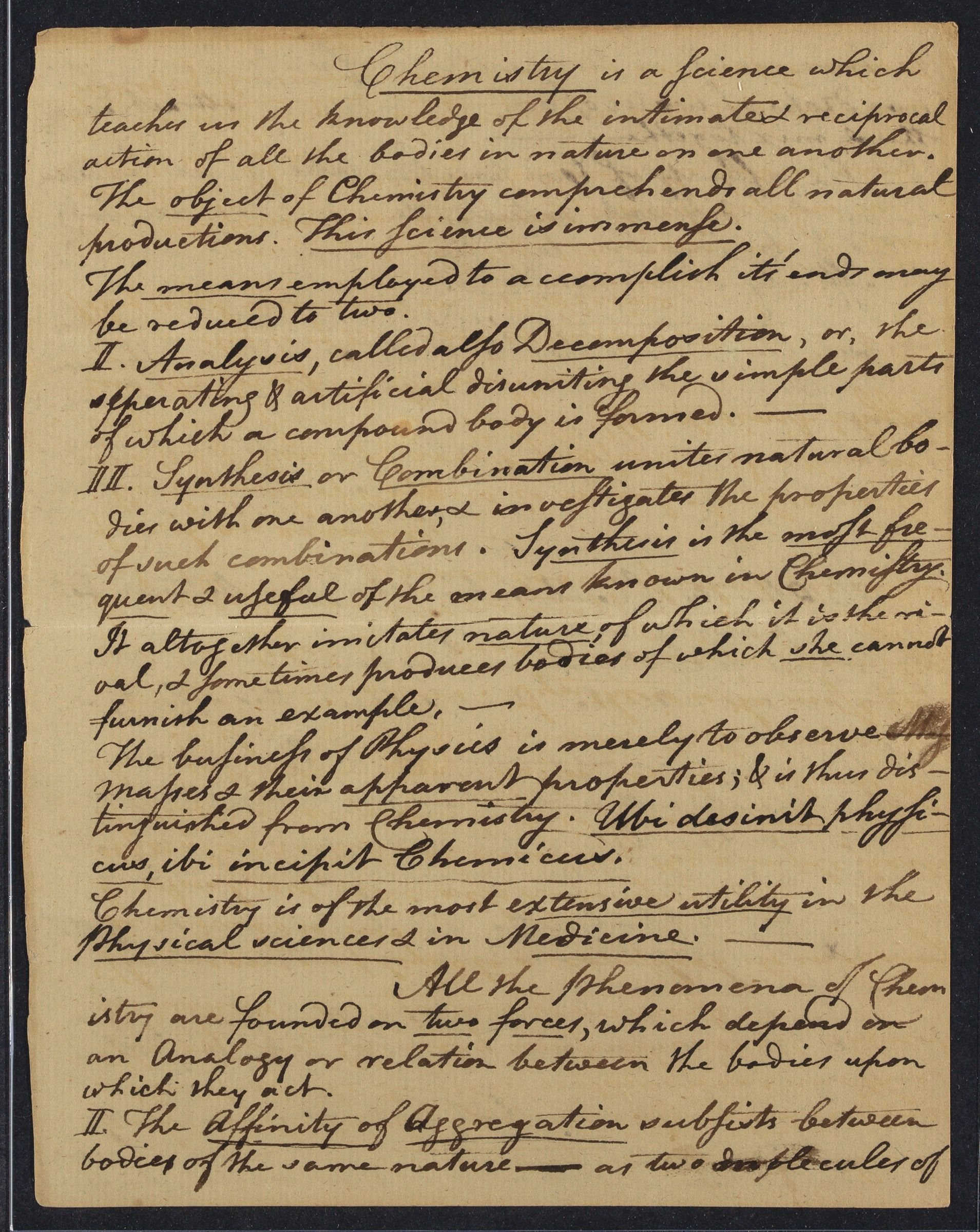 Student notes of Elijah Dunbar, 1792-1793