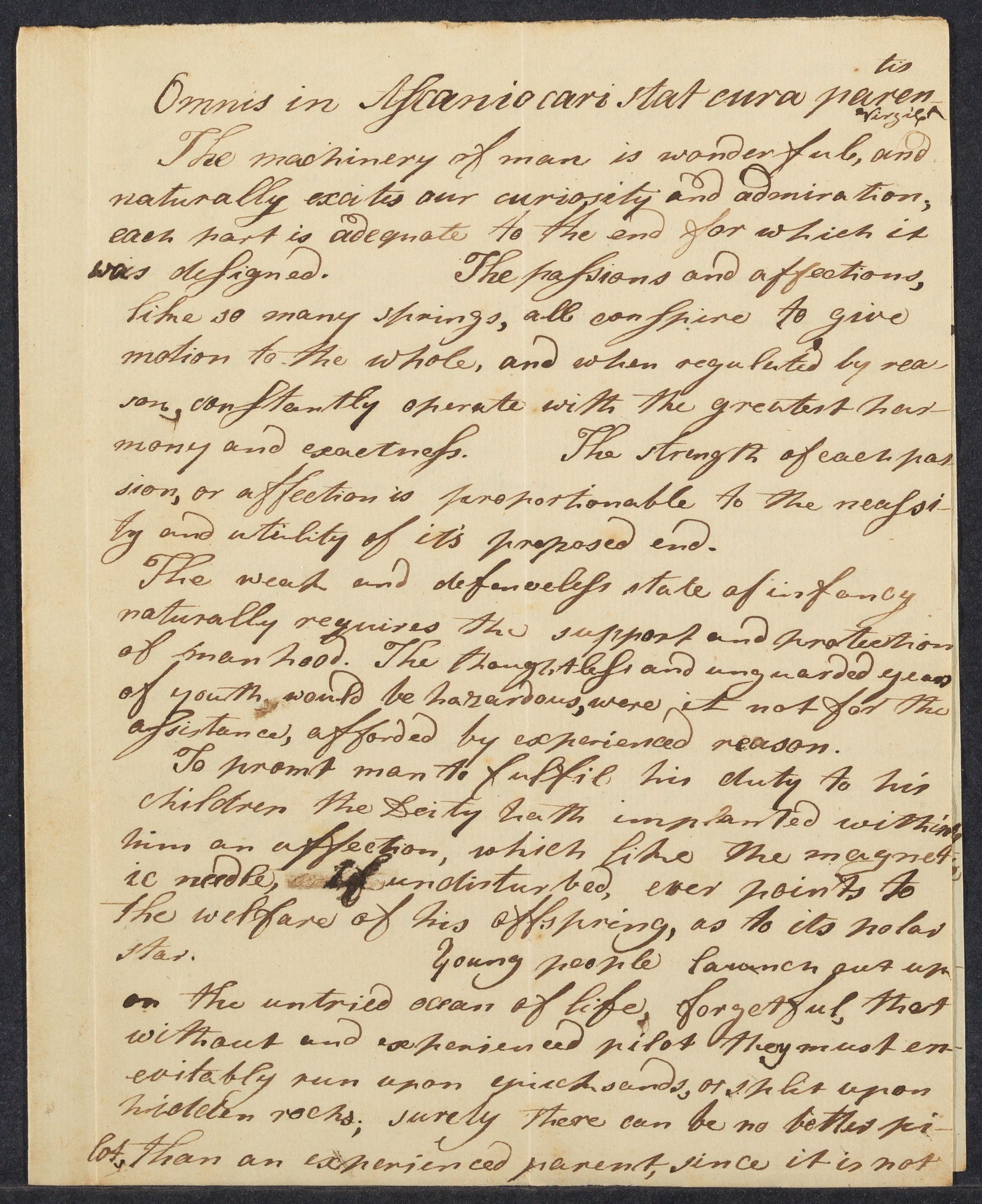 Student essay composed by Curtis Guild, 1795