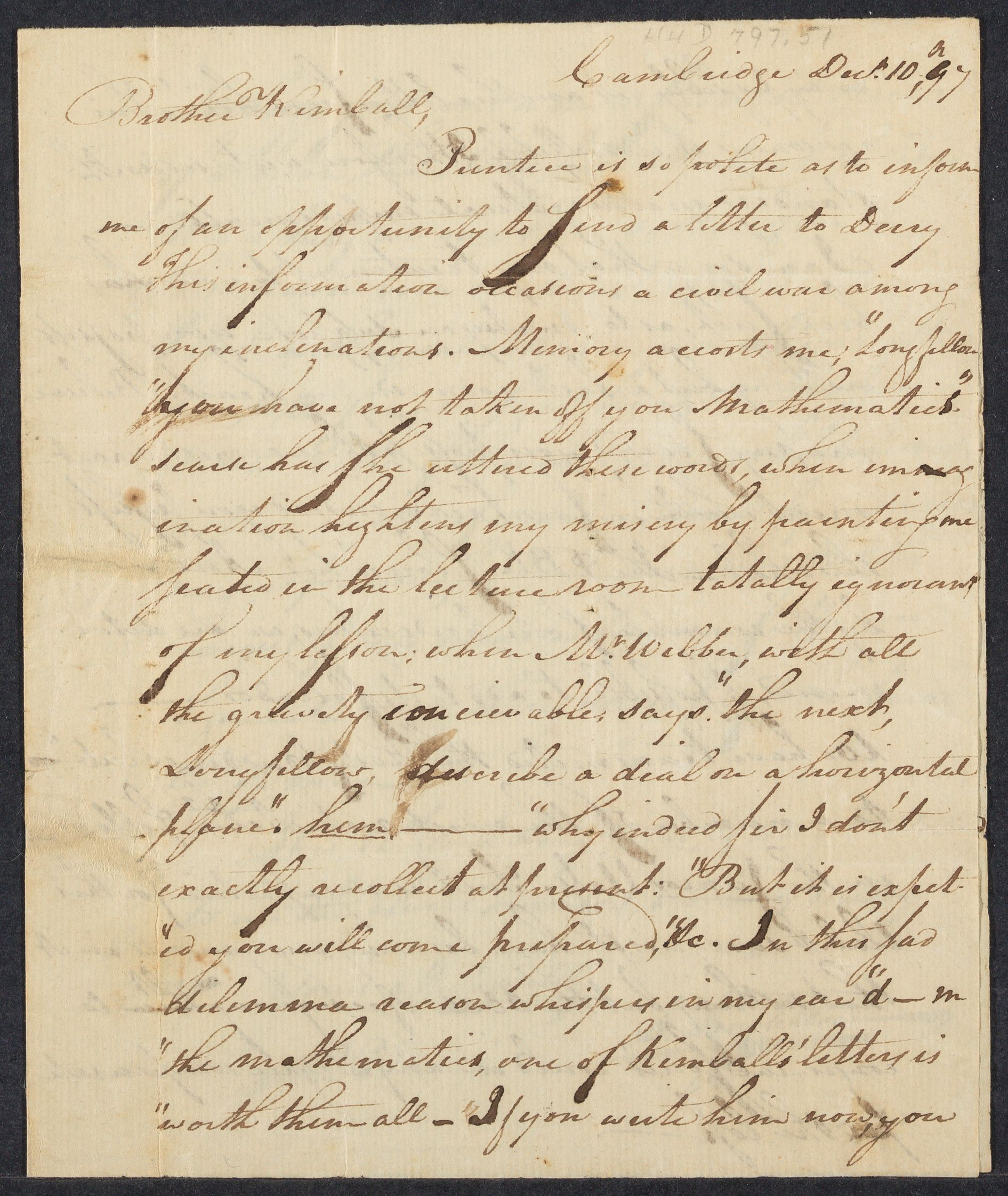 Letter from Stephen Longfellow to Jabez Kimball, 1797 December 10