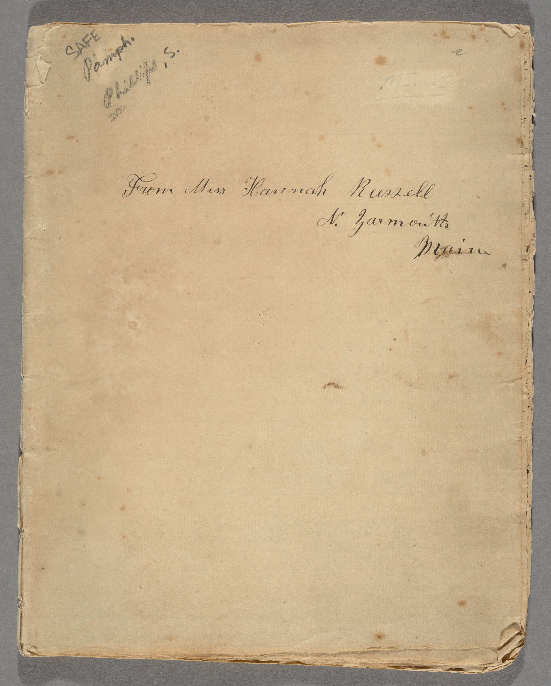 This forty-nine page theological letter was written by Rev. Samuel Phillips(1690-1771);Harvard AB 1708) of Andover, Massachusetts, to Rev. William Balch (1704-1792; Harvard AB 1724) of Bradford, Massachusetts, on February 12, 1744.