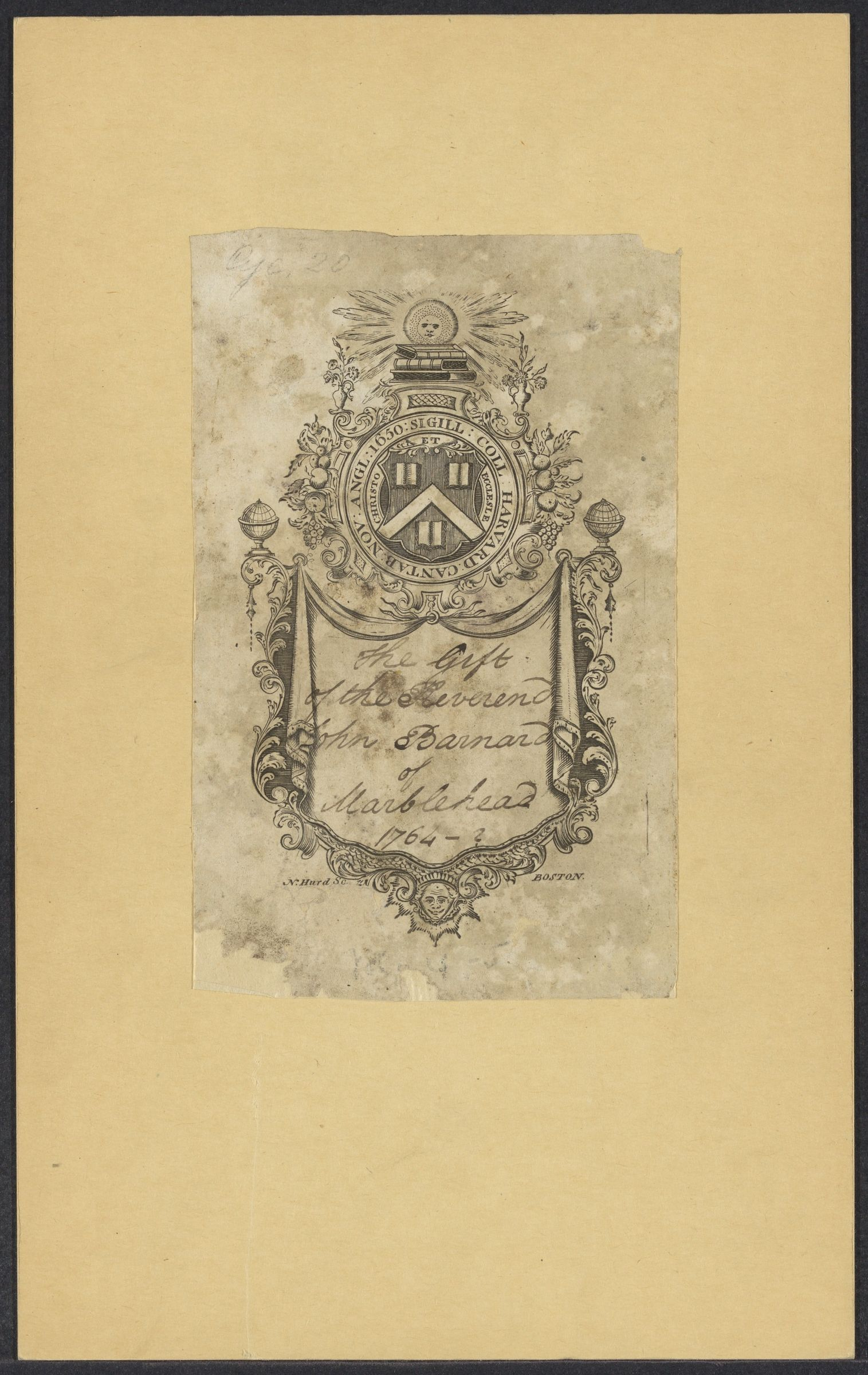 Harvard Library bookplate collection, 1764-1960