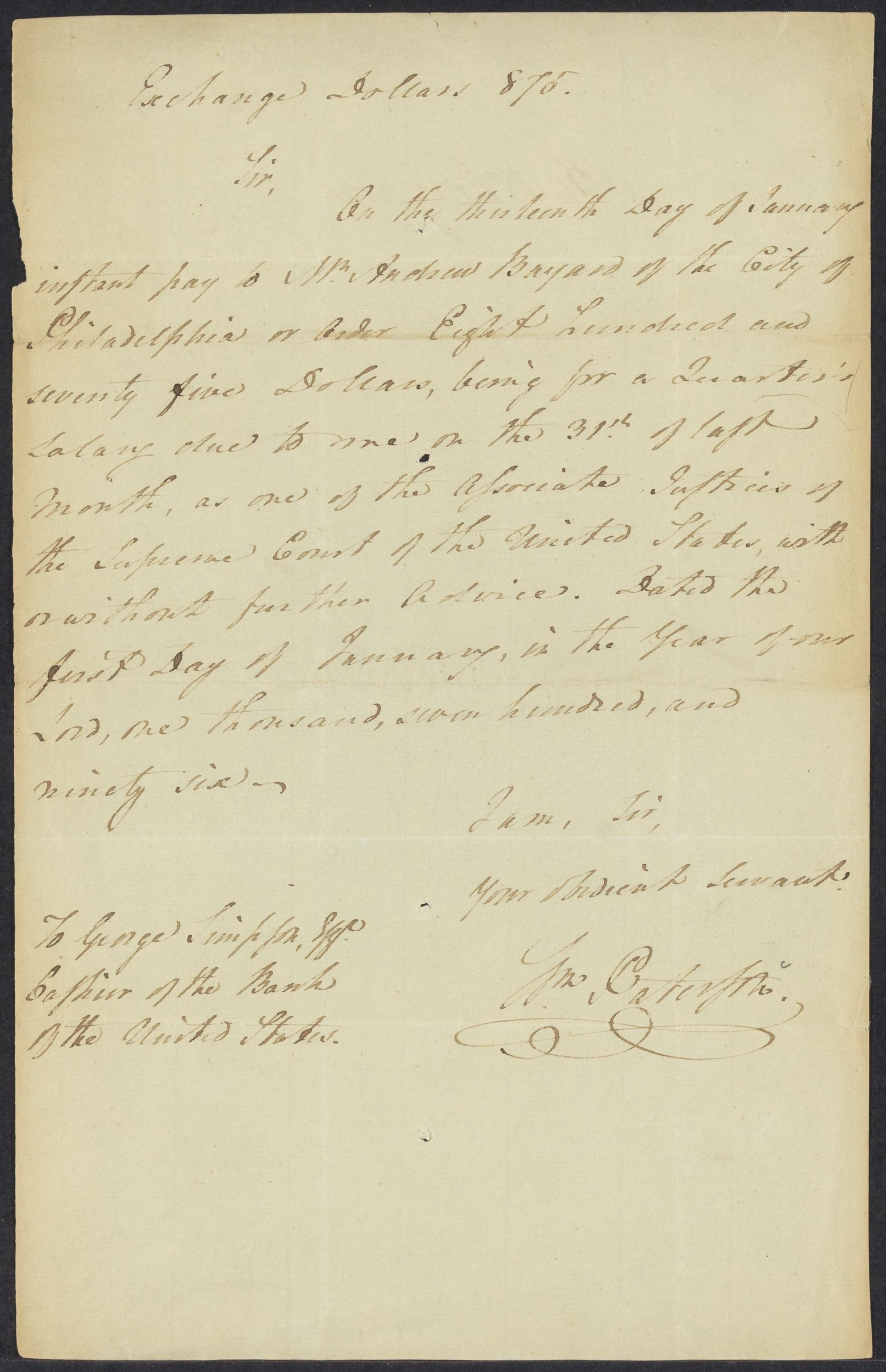 Letters to George Simpson, 1796, 1806