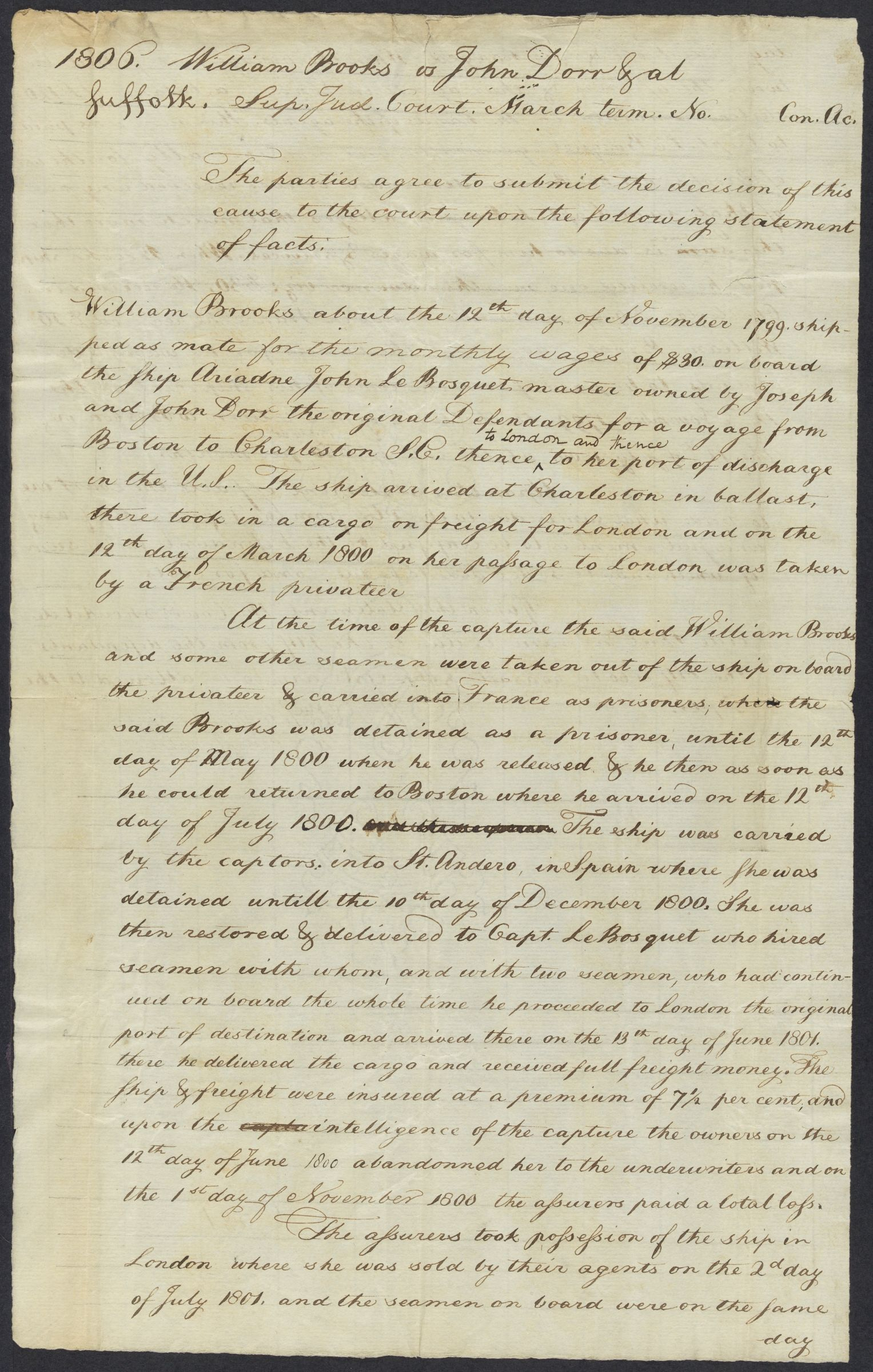 Papers of Theophilus Parsons, 1778-1811