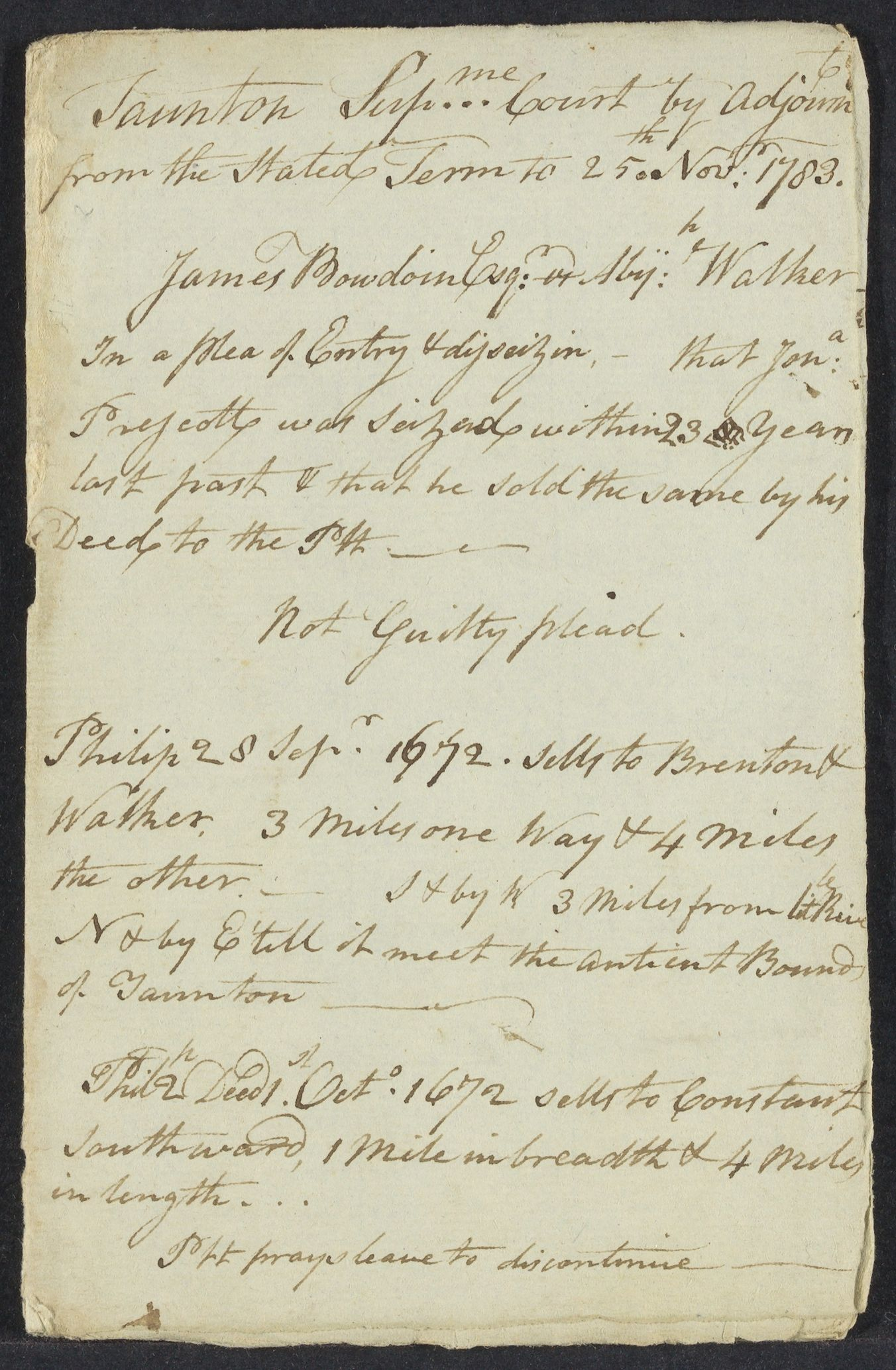 Notes on cases in Taunton, 1783