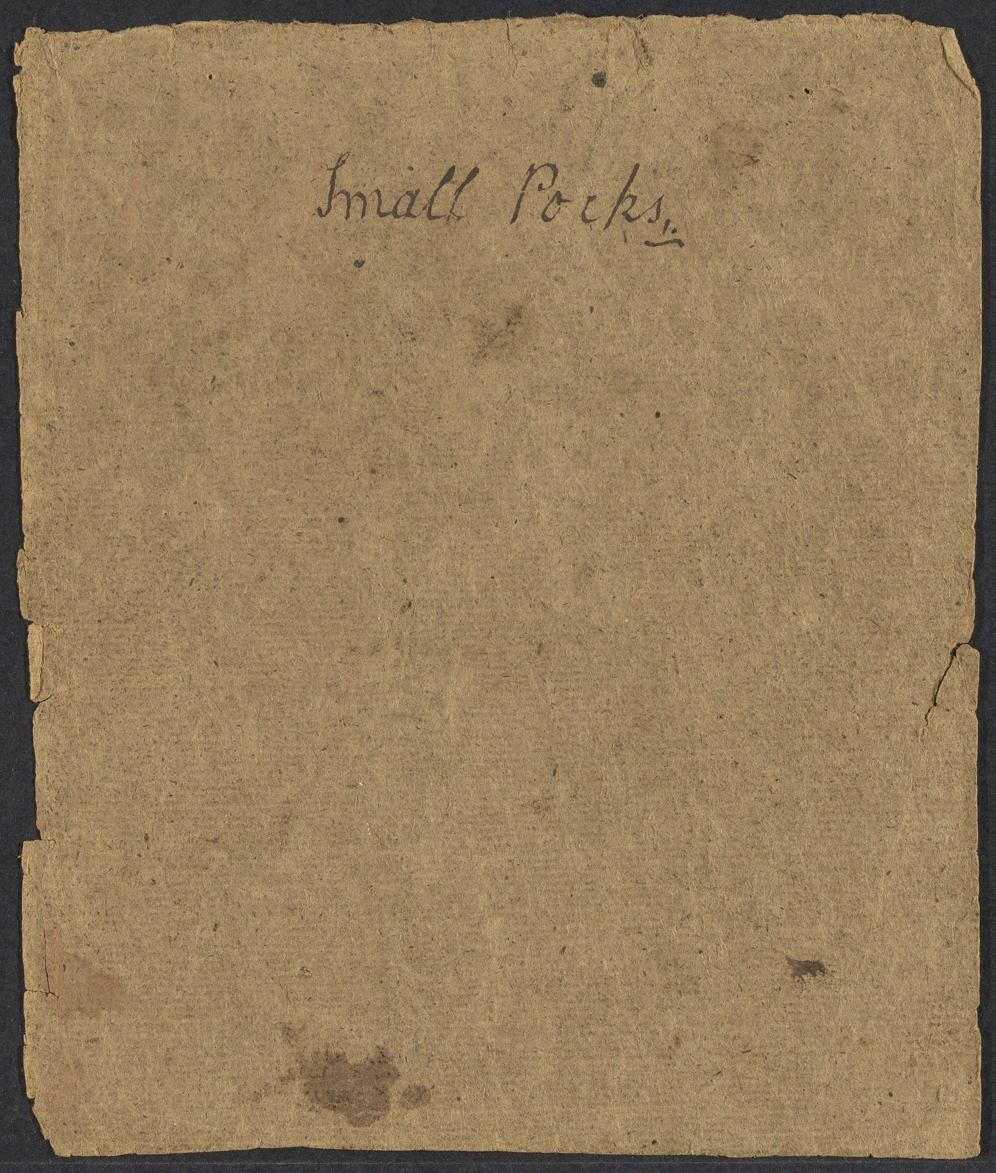 Small Pocks, 1775-1779 (inclusive)