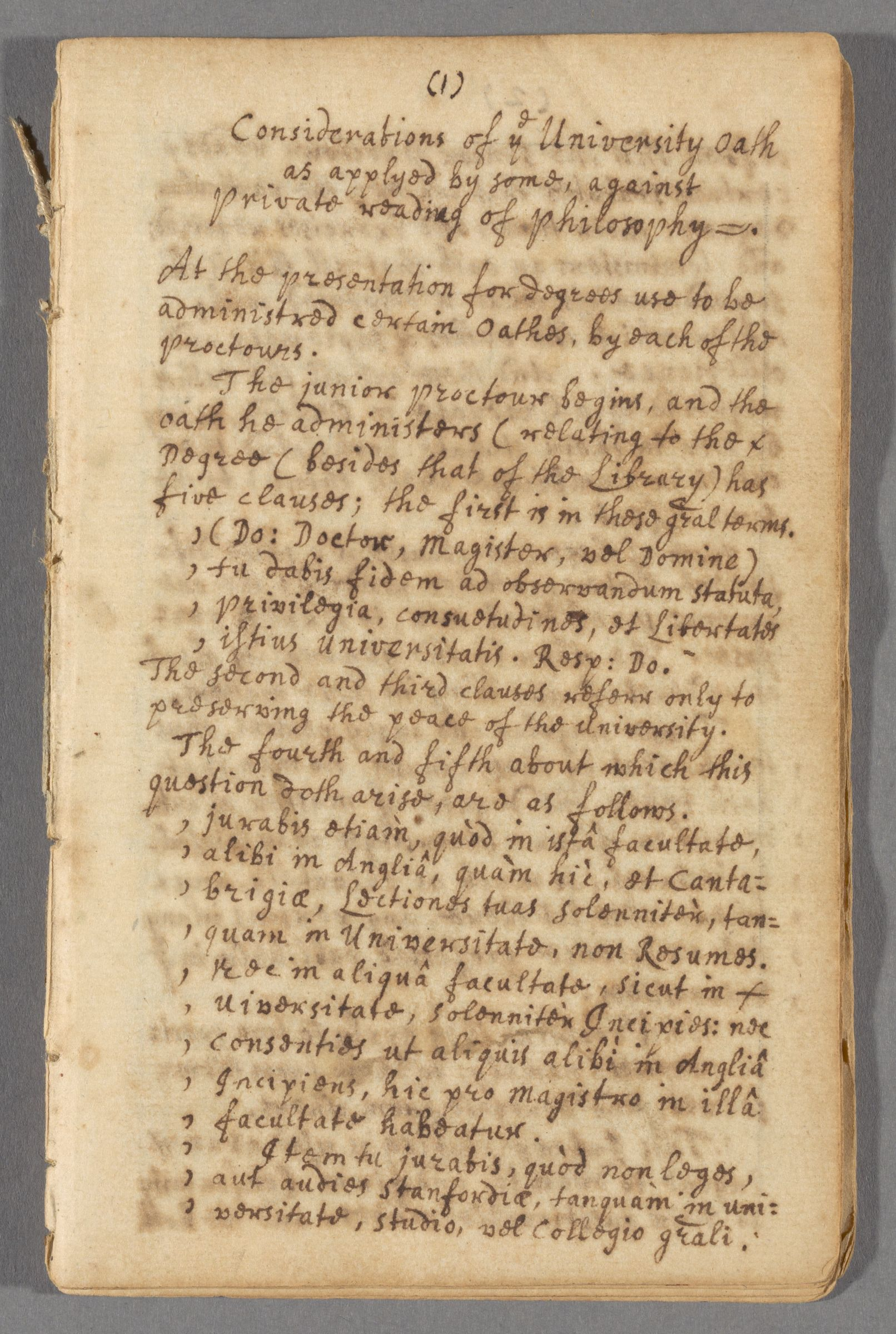 A  synopsis of naturall philosophy according to the method of the ancients, but improved & augmented with the notions of later philosophers : manuscript, 1677-1679