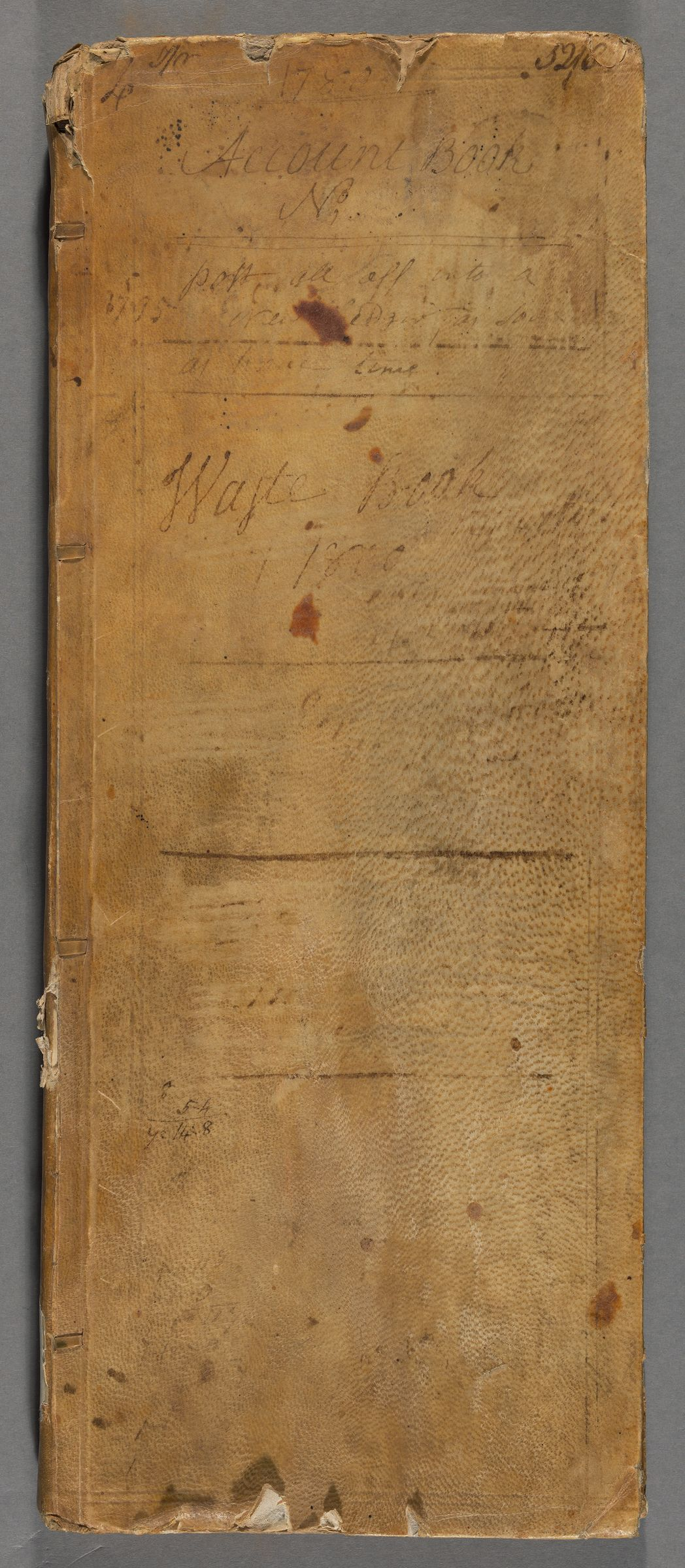 Account book, 1780-1802 (inclusive)