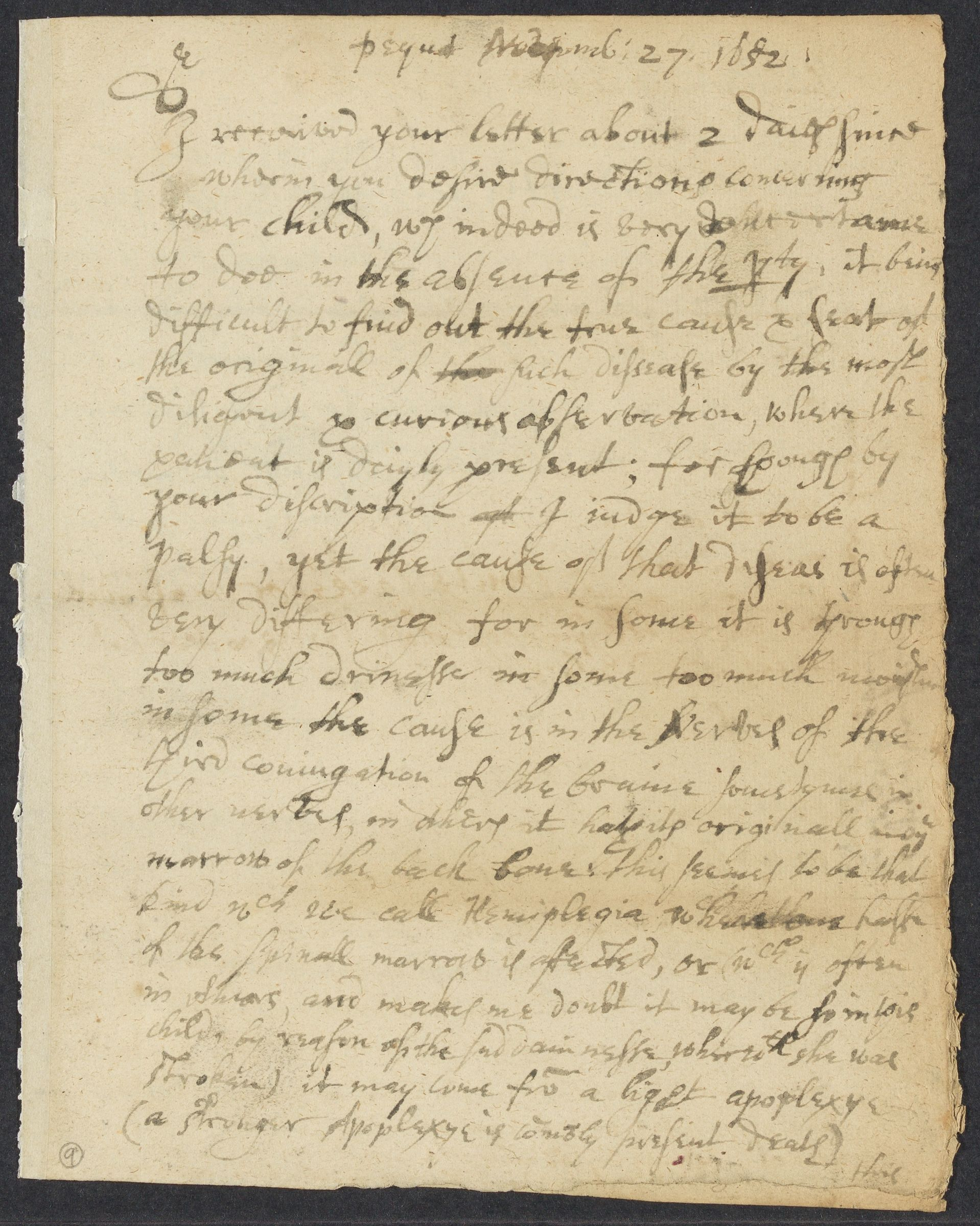 Winthrop, John, 1606-1676, autographed letter signed (copy) to Richard Odell; Pequot, Conn., 1 side (4 pages), 1652 November 27