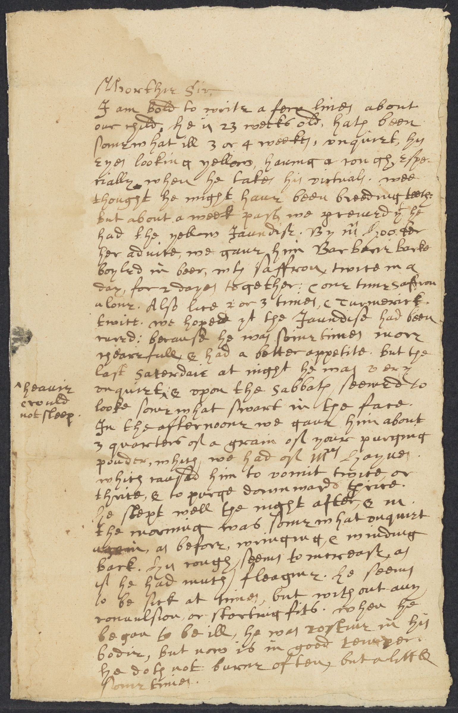 Stone, Sam, 1602-1663, autographed letter signed to John Winthrop; Hartford, 1 side (3 pages), 1652 February 1652