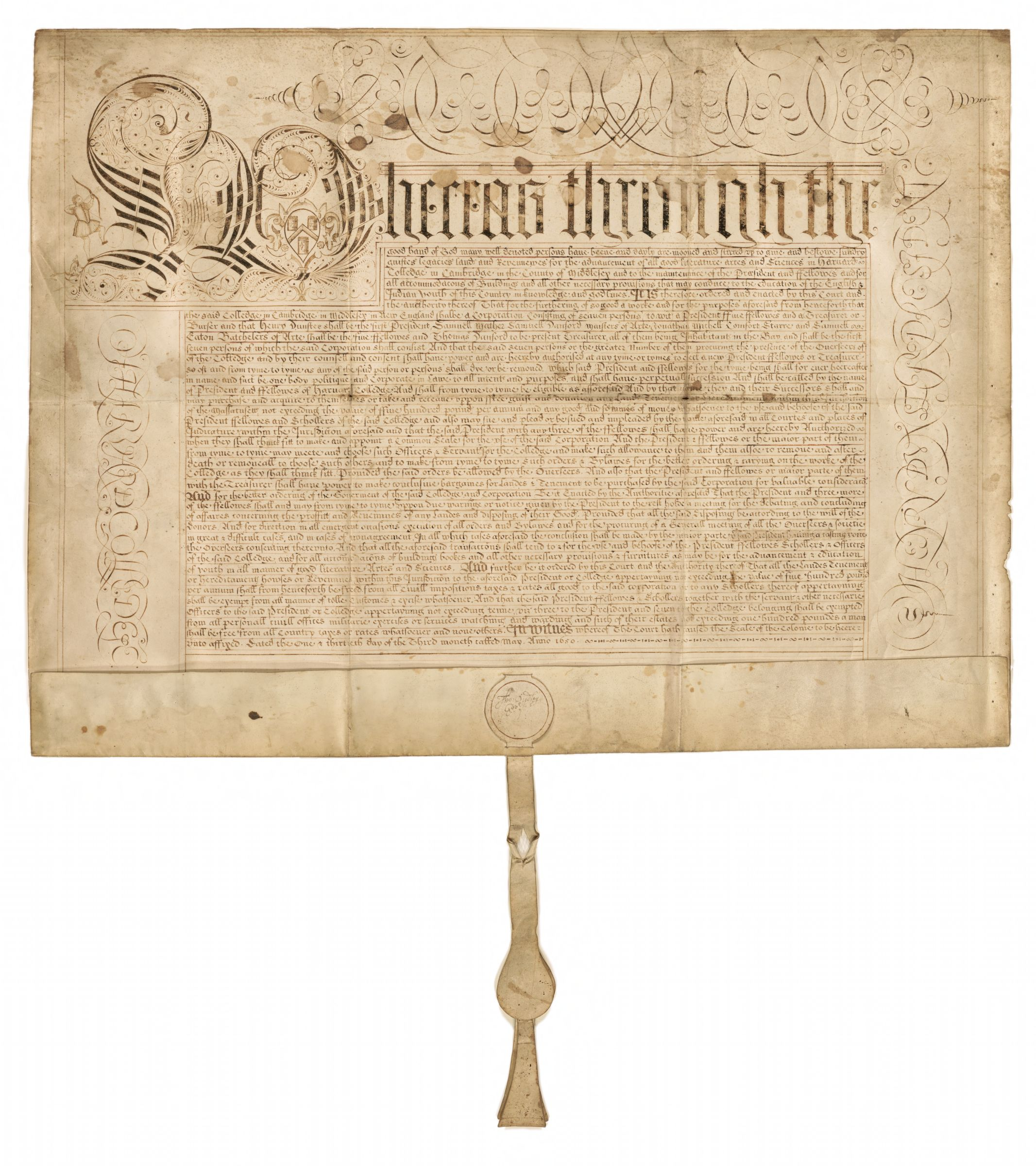 Charter of 1650, 1650 May 31