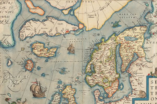 Map: Septentrionalium regionum descrip by Ortelius, Abraham, 1527-1598