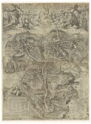 Siena Italy 1650 Map Bookmark