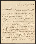 Tudor, William, 1779-1830. 1 letter to William Tudor; 1808., Tudor family additional papers