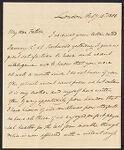 Tudor, William, 1779-1830. 1 letter to William Tudor; 1808., Tudor family additional papers