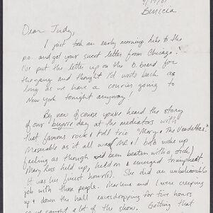 Typed and handwritten correspondence.