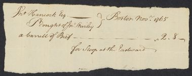 Domestic bills, Hancock family papers