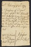 First Congregational Parish (Unitarian) of Arlington, MA. Records, 1733-1965. Tax Assessor's Certificates. 1770-1779. bMS 573/11 (2), Andover-Harvard Theological Library, Harvard Divinity School.