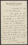 Lucy Stone Letters, 1850-1893. A/S878a. Schlesinger Library, Radcliffe Institute, Harvard University, Cambridge, Mass.