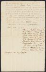 Subscriptions, 1793-1853, Baldwin family business papers