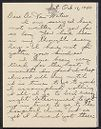 Miriam Van Waters Papers. Reformatory for Women at Framingham, 1876-1970. Subseries 3. Student correspondence, 1936-1971, n.d. Correspondence: B, 1943-1944. A-71, folder 274. Schlesinger Library, Radcliffe Institute, Harvard University, Cambridge, Mass.