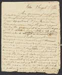 Letter from William Tudor to his father, William Tudor, William Tudor personal archive