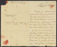 Letter from William Tudor to his brother, Henry James Tudor, William Tudor personal archive