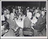 [Clockwise from lower left: Conrad Wesselhoeft, unidentified, J. Howard Means, Paul Dudley White, unidentified, Bernard D. Davis, Robert Cochrane, Zanvil A. Cohn, Carroll M. Williams, unidentified], Digital Object
