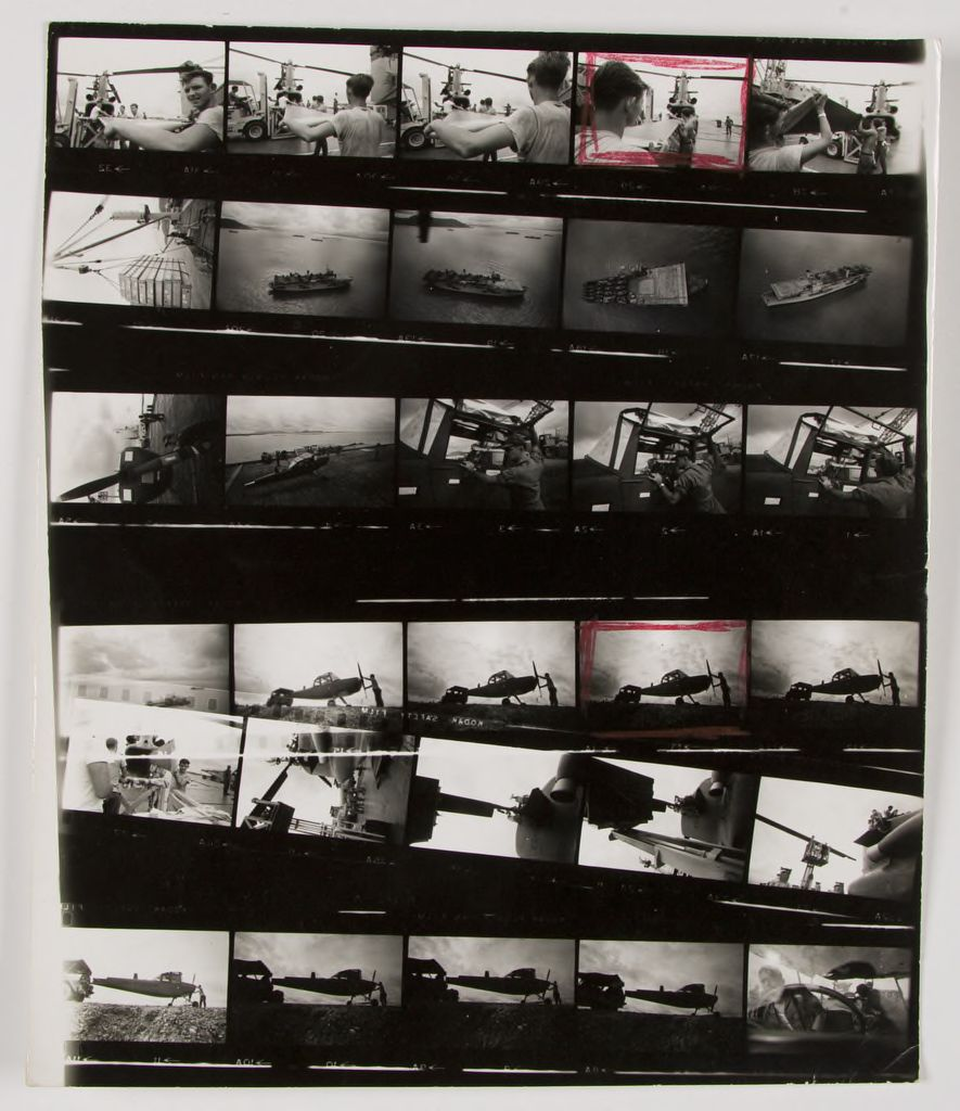 Untitled (Soldiers Working On Planes; Aircraft Carrier, Vietnam)
