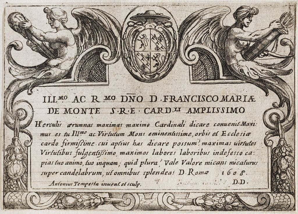 Frontispiece With The Arms Of Cardinal Francesco Maria De Monte
