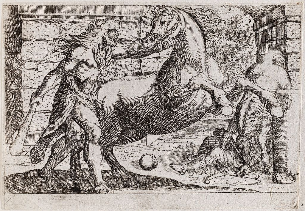 Hercules And The Mares Of Diomedes