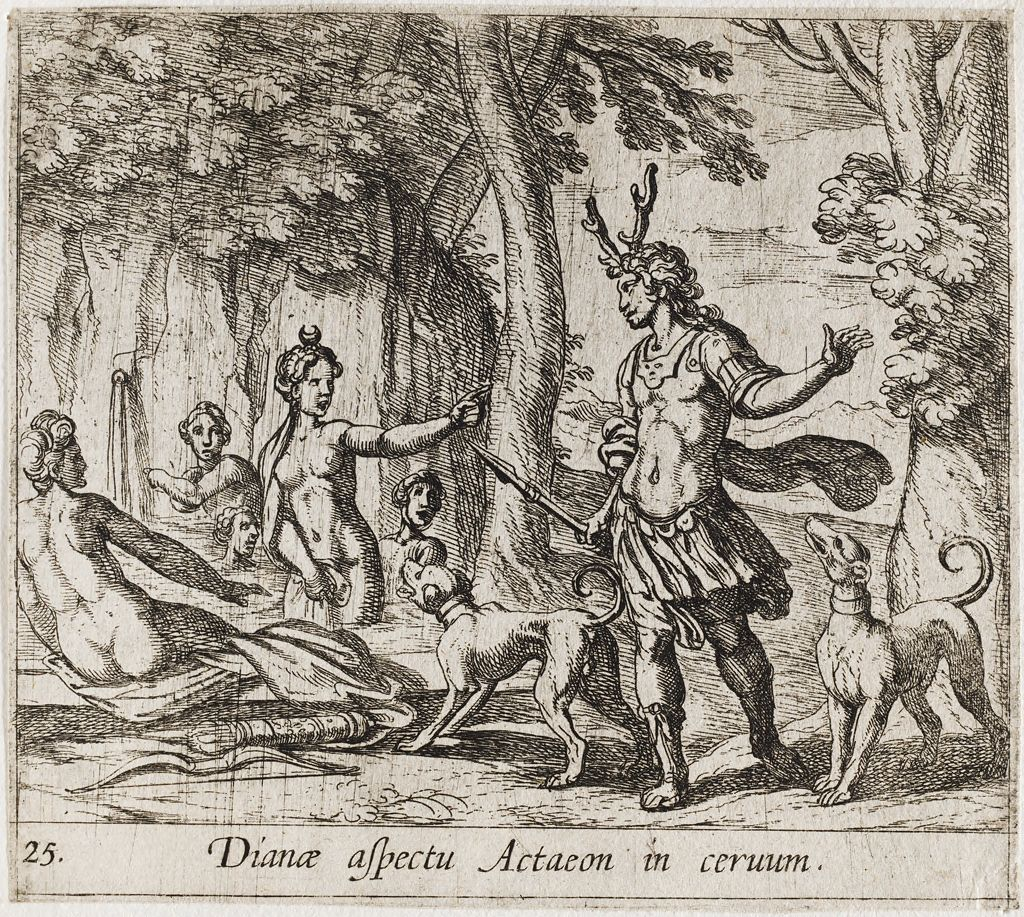 Actaeon Changed Into A Stag
