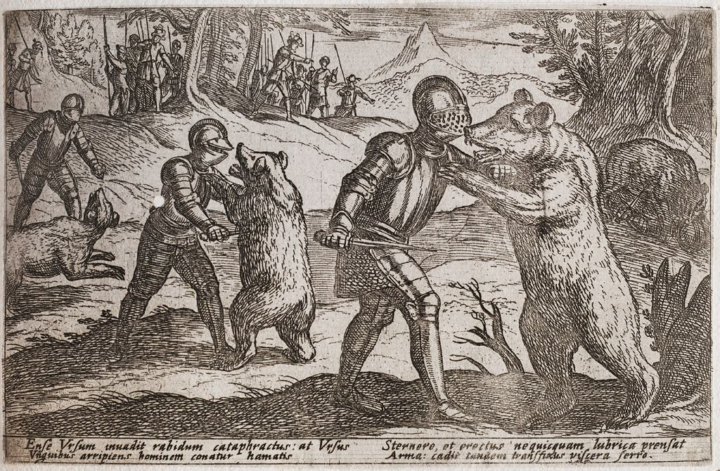 Armored Men Fighting Bears