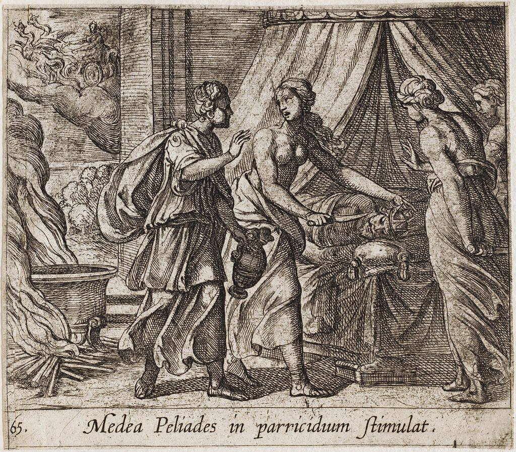 Medea Urging The Daughters Of King Pelias To Murder Their Father