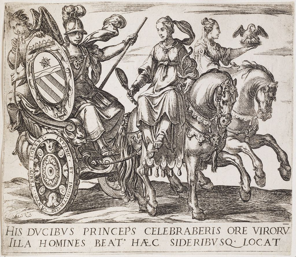 Frontispiece With Minerva In A Chariot